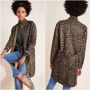 Anthropologie Blank NYC Renegade Leopard Blazer